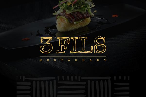 3Fils Restaurant Branding